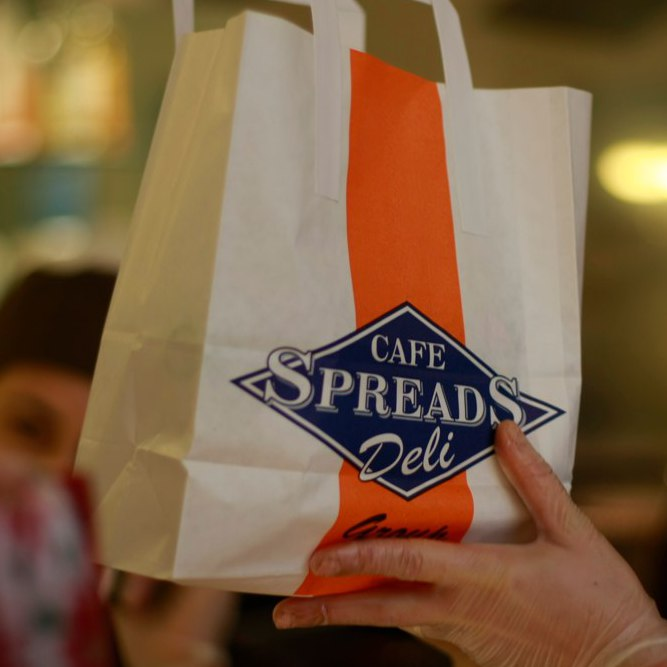 Spreads cafe logo - sandwich bag